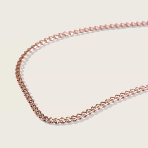 Nova Herringbone Chain in Rose Gold