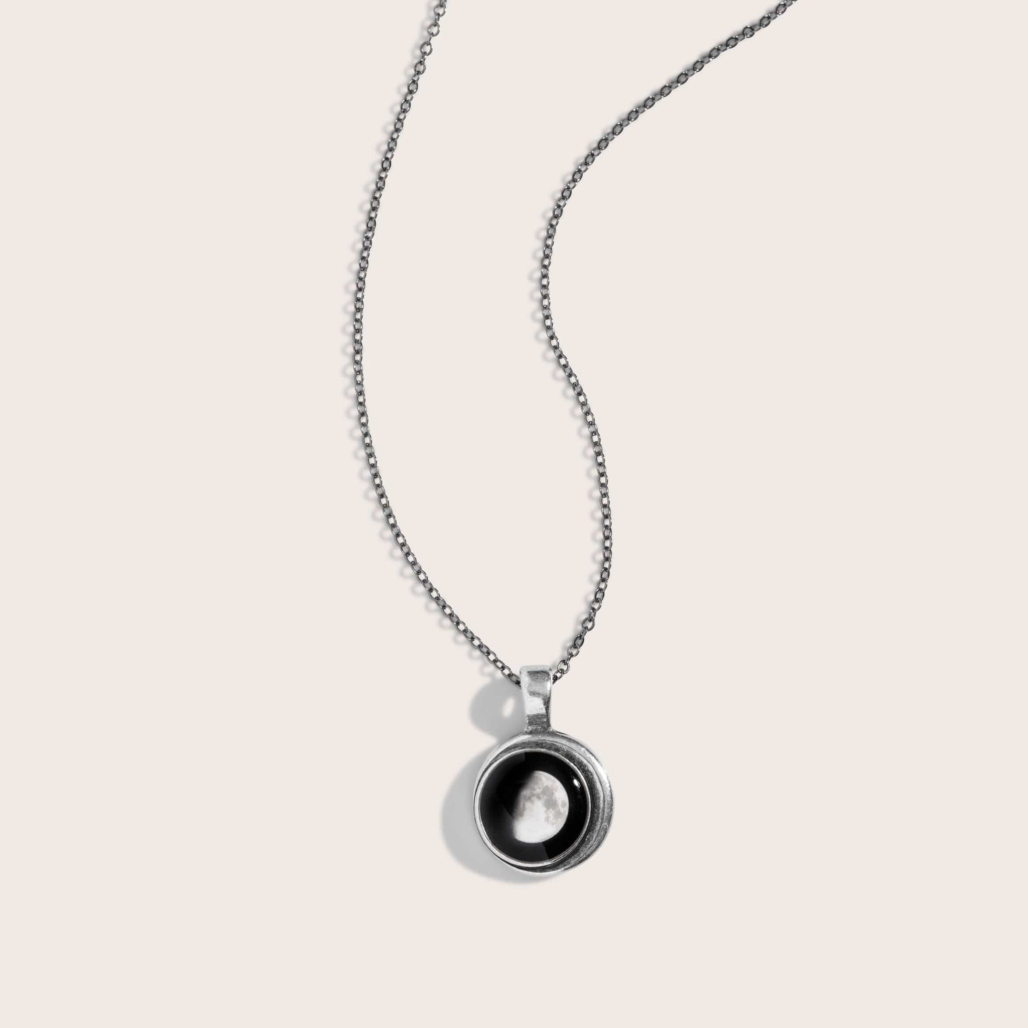 Crescent Necklace in Pewter