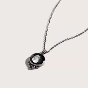 Classic Pewter Birthstone Necklace