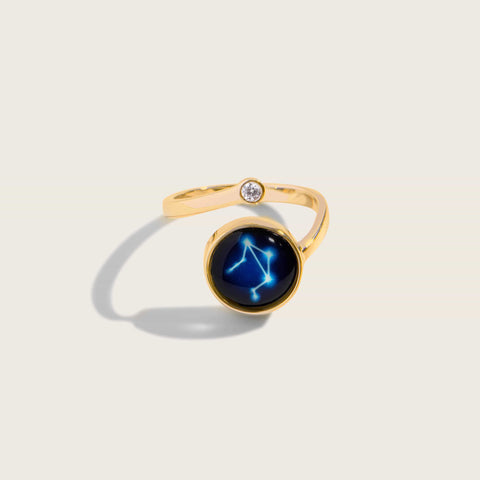 Astral Cosmic Spiral Ring in Gold