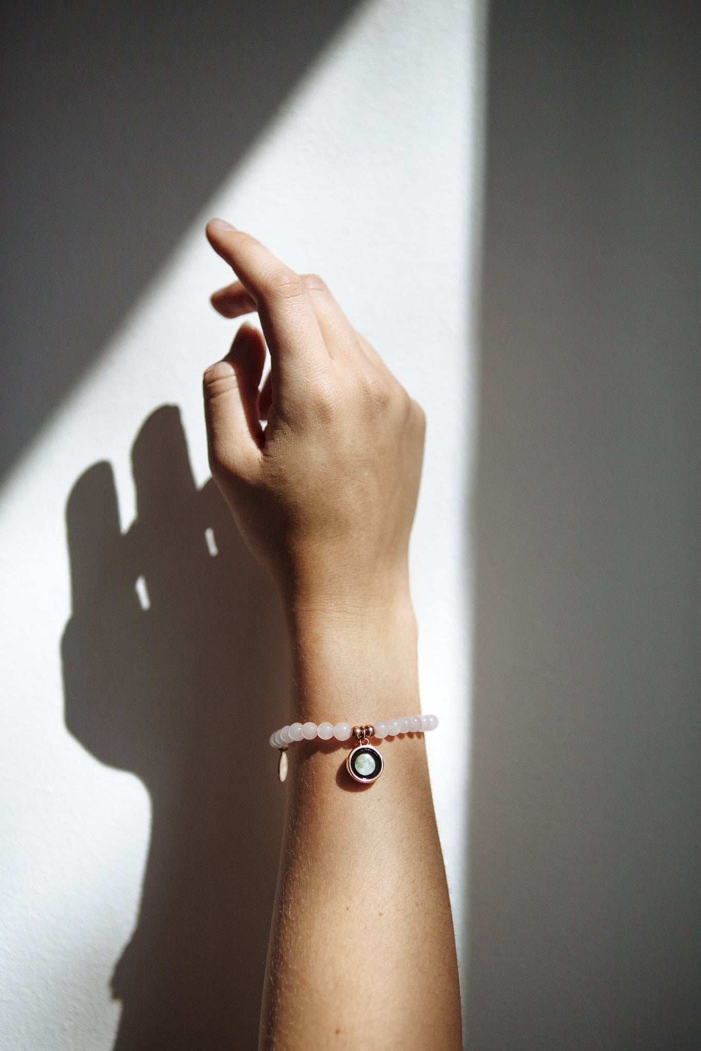 Loving Energy Beaded Bracelet in Rose Gold
