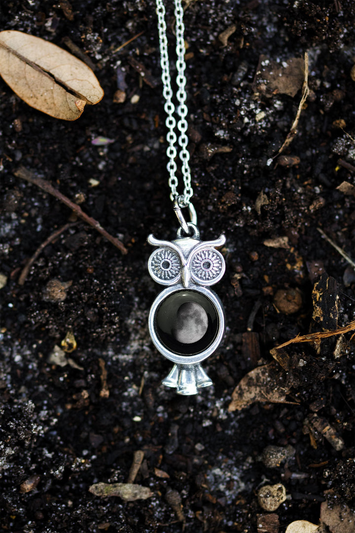Owl at the Moon Necklace