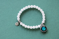 Beaded Bracelet in White