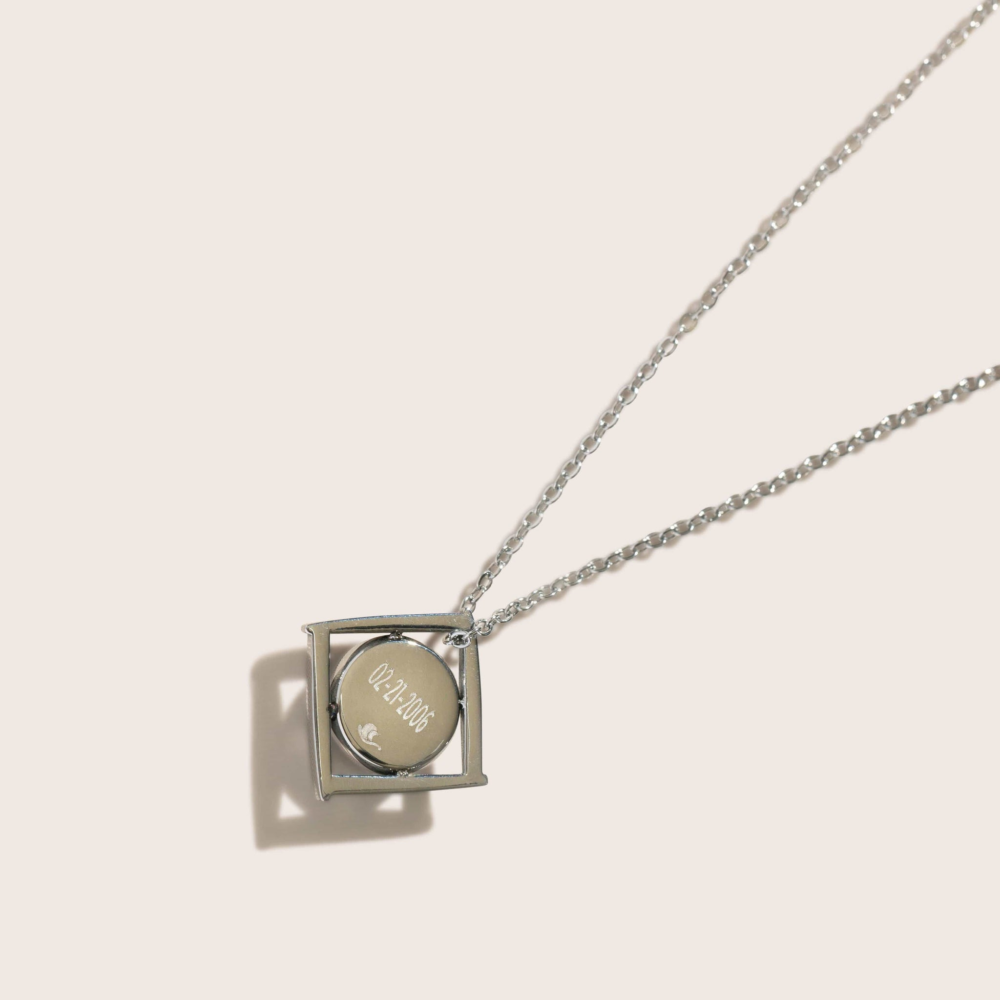 The Lunula Tetrad Necklace in Stainless Steel