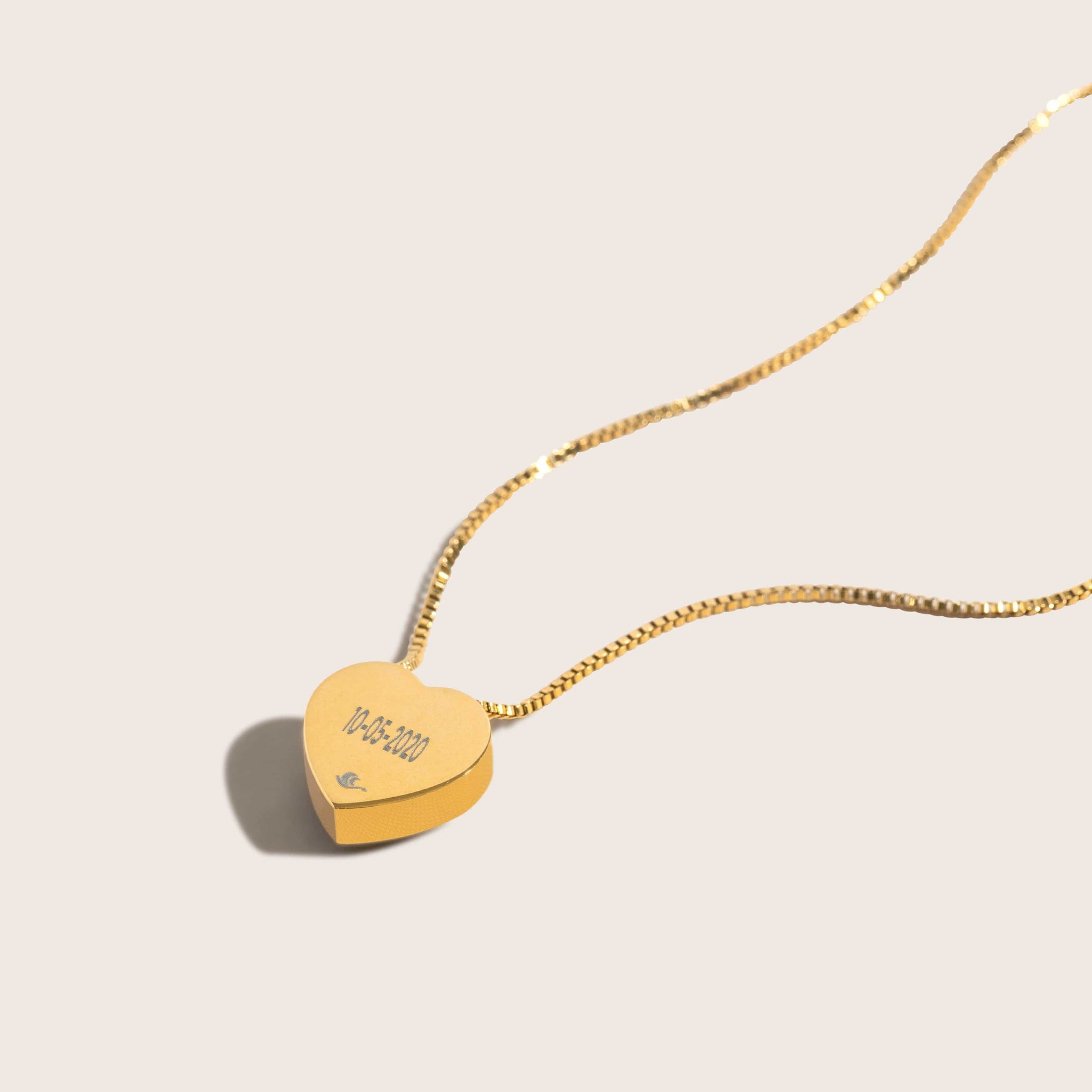 Pink Moon Wholesome Heart Necklace in Gold