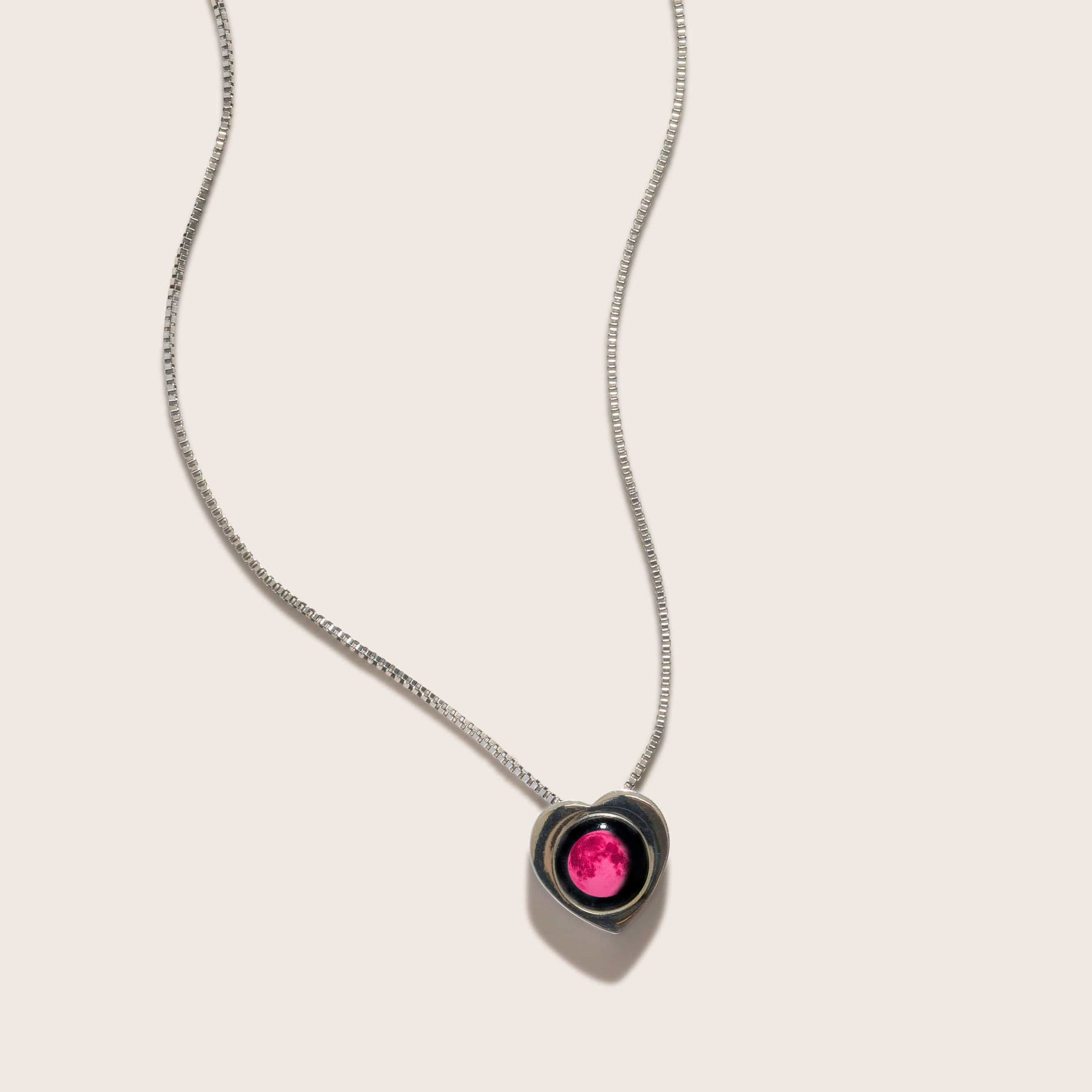 Pink Moon Wholesome Heart Necklace