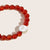 Brilliant Blush Jade Bracelet in Stainless Steel