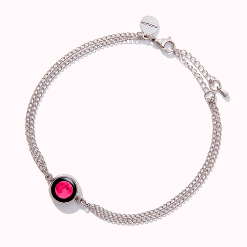 Moon Energy Anklet with Pink Moon