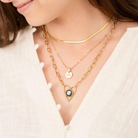 Layers of Love Atlas Necklace Set in Gold