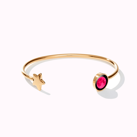 Pink Moon Crépuscule Cuff in Gold