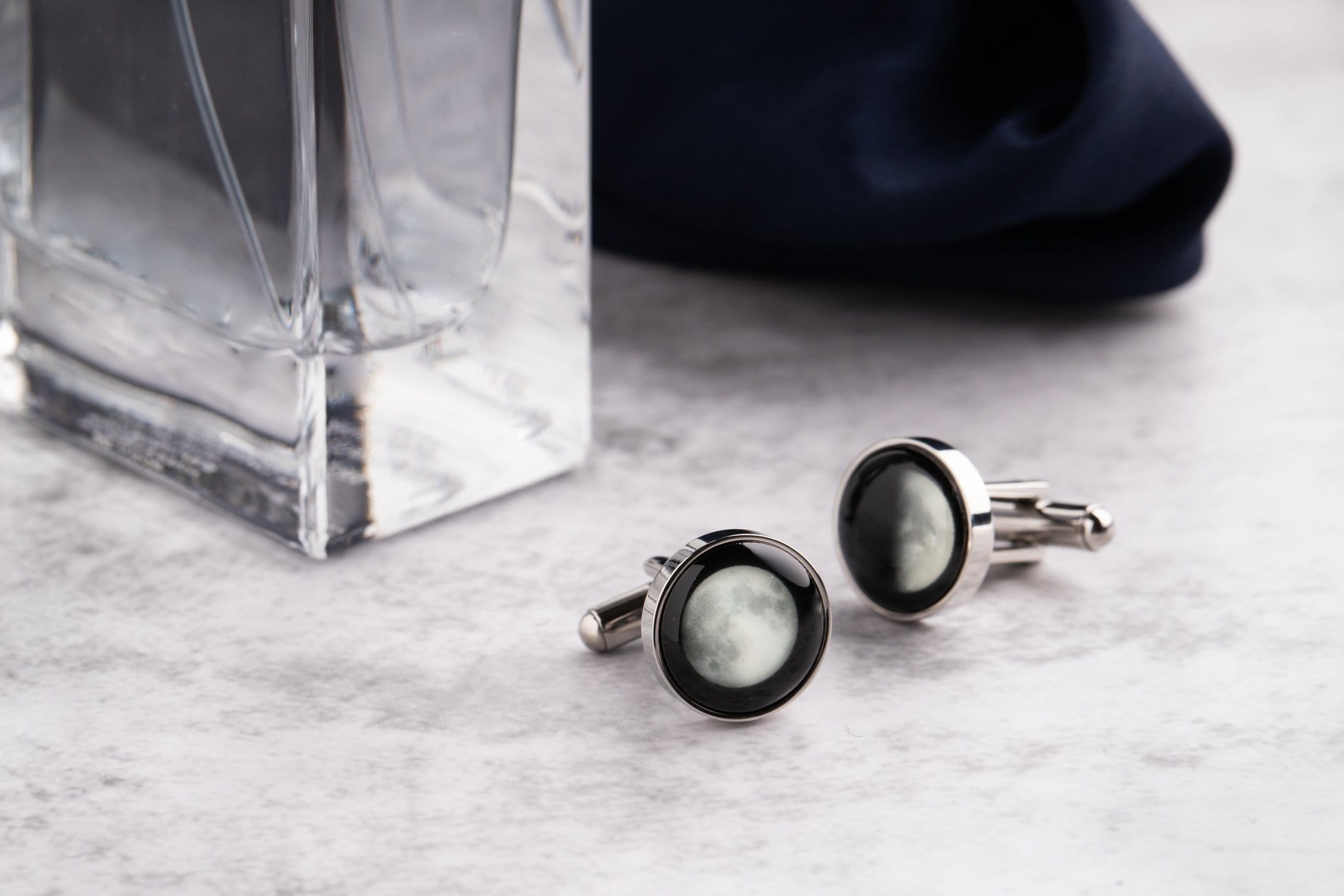 The Maginus Cufflinks in Silver Stainless Steel