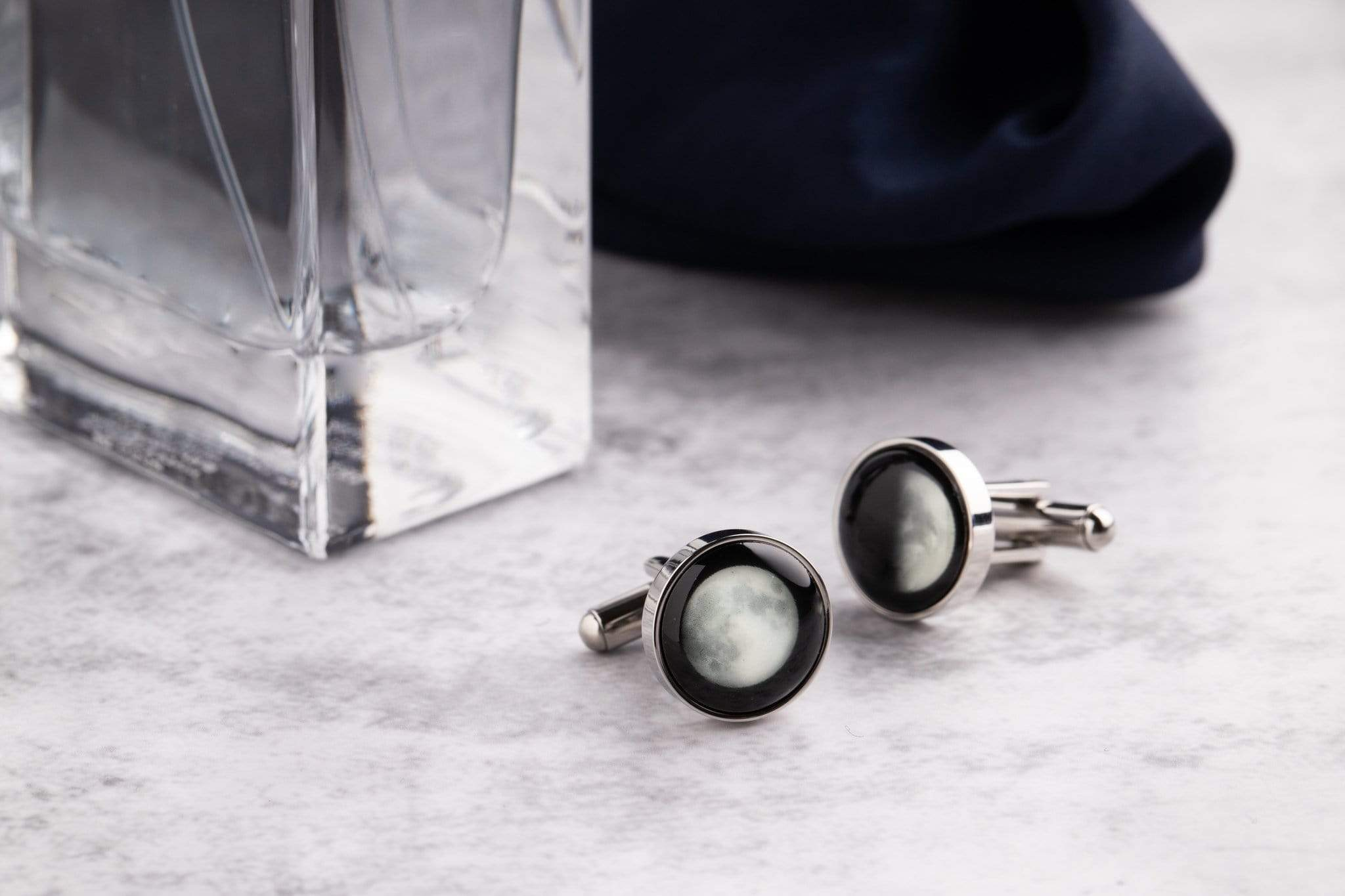 The Maginus Cufflinks in Black Matte Stainless Steel