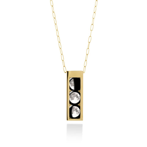 Three Moon Selene Locket in Gold