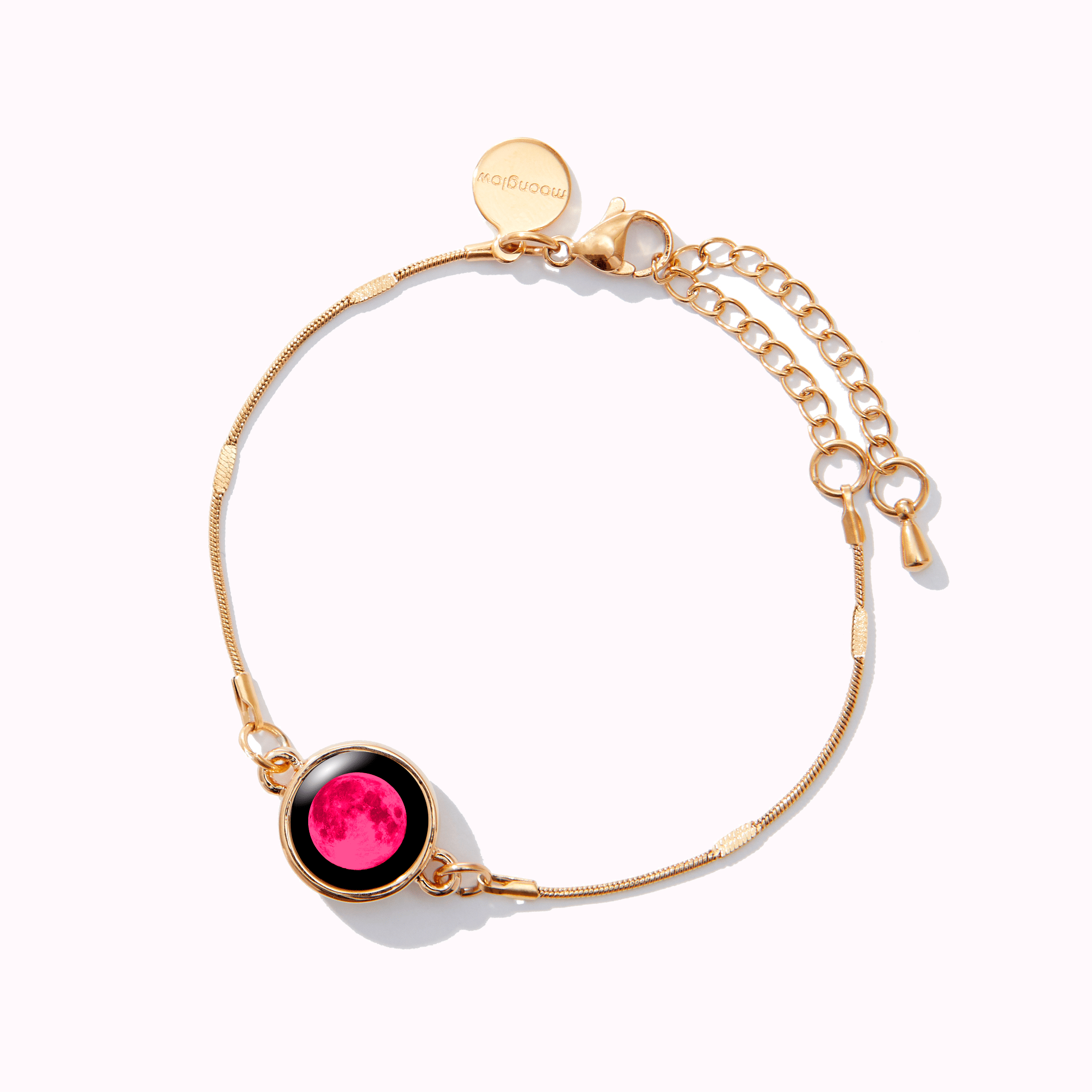 Pink Moon Mini Satellite Bracelet in Gold