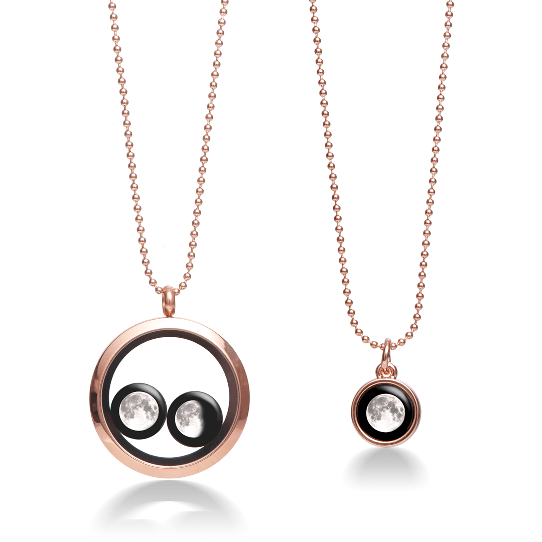 Lovers in the Locket and Mini Simplicity Necklace in Rose Gold Bundle