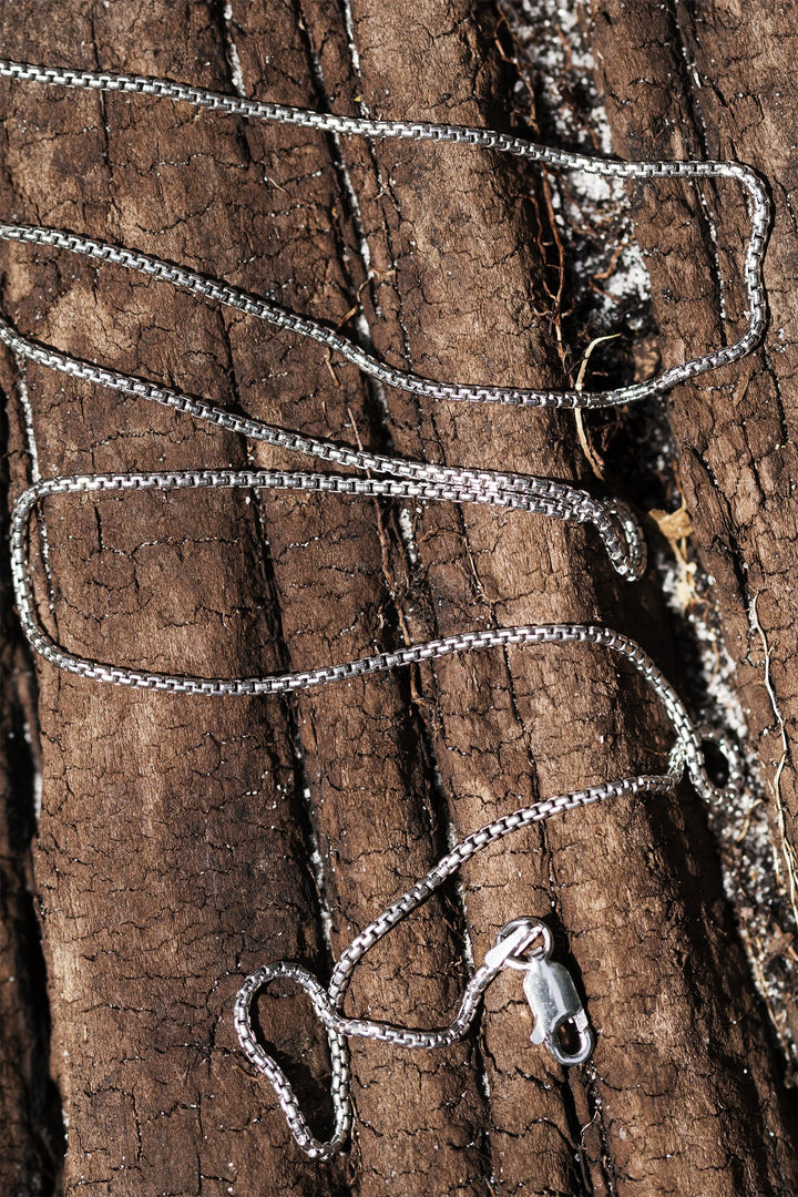 Rhodium-Coated Sterling Silver Mirror Chain