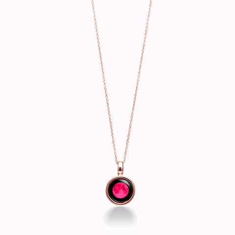 Pink Moon Sky Light Rose Gold Necklace