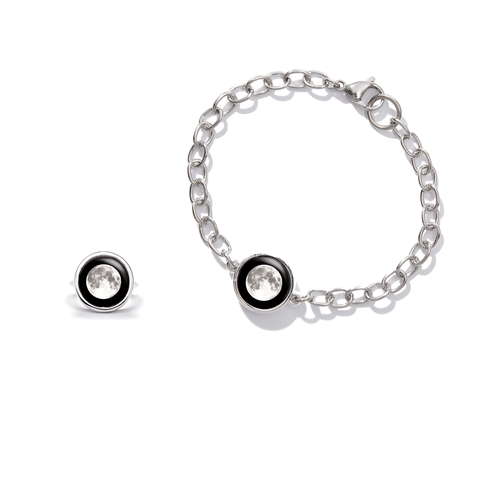 Moonrise Ring + Moondrop Simplicity Bracelet Set