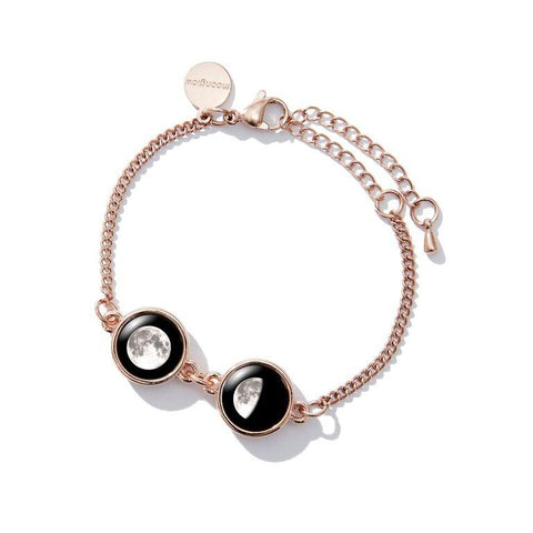 Double Moon Pallene Bracelet in Rose Gold