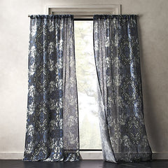 Storm floral print curtain panel