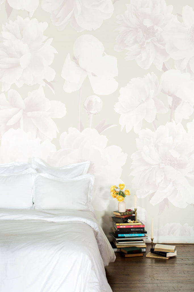 Ariella Neutral Floral Wallpaper - Ashley Woodson Bailey