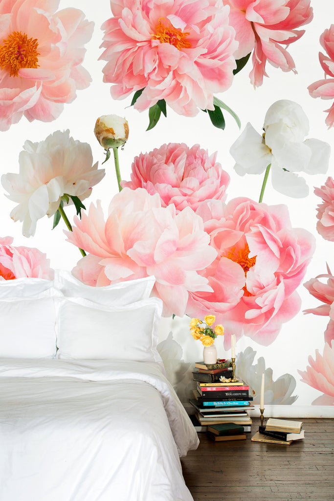 Ariella Pink Vibrant Floral Wallpaper - Ashley Woodson Bailey
