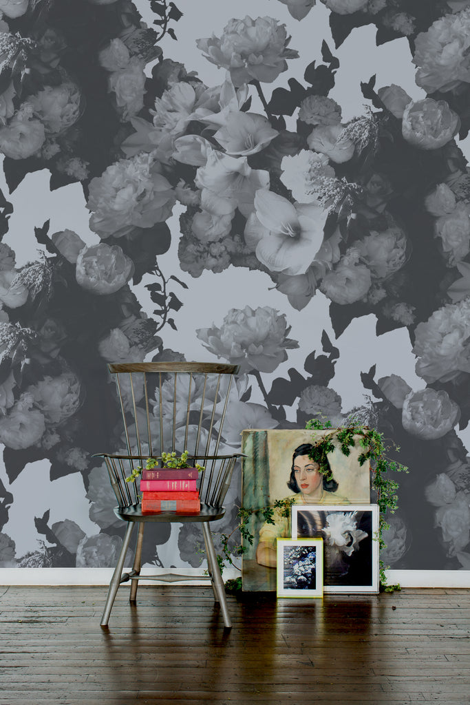 Dutch Love Silver Wallpaper - Ashley Woodson Bailey