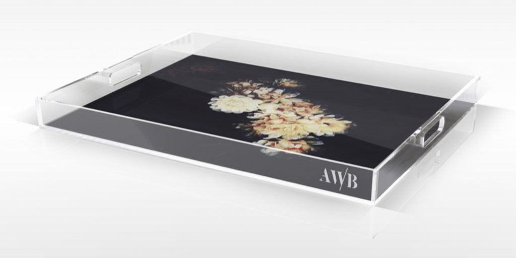 Banks Dark Floral Tray - Ashley Woodson Bailey