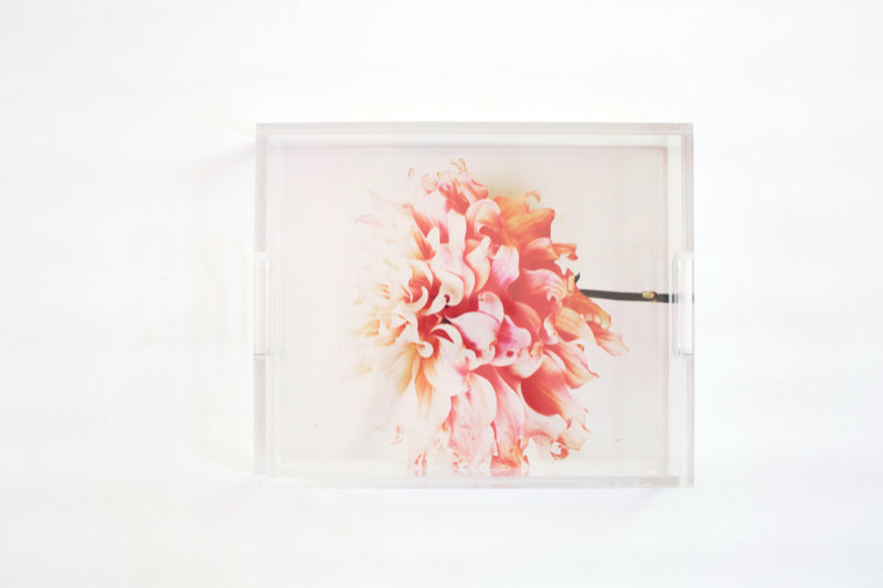 Never Forget Light Floral Tray - Ashley Woodson Bailey