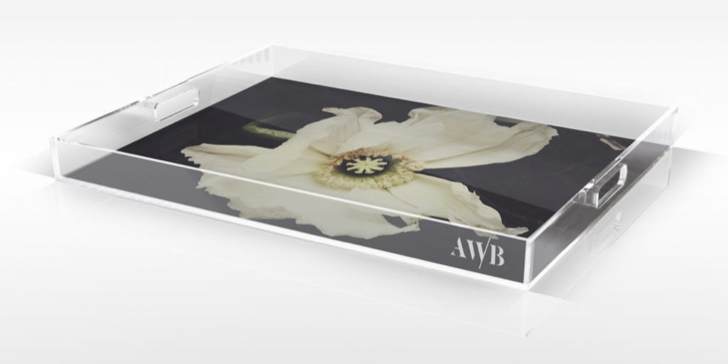 Rest Dark Floral Tray - Ashley Woodson Bailey