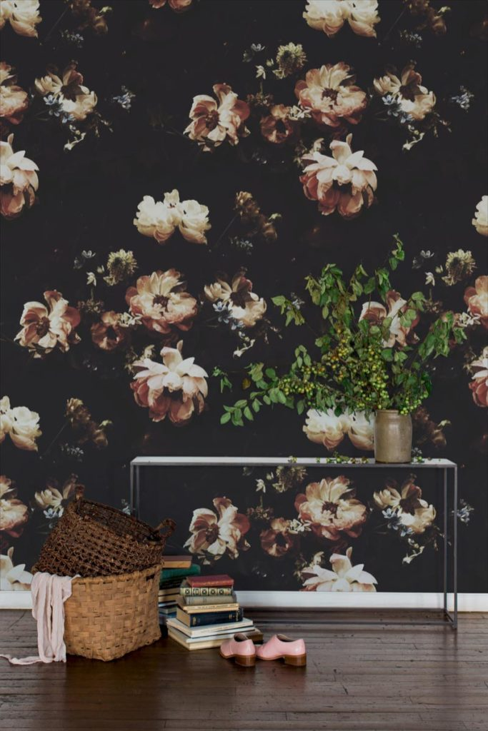 The Hunt Dark Floral Wallpaper - Ashley Woodson Bailey