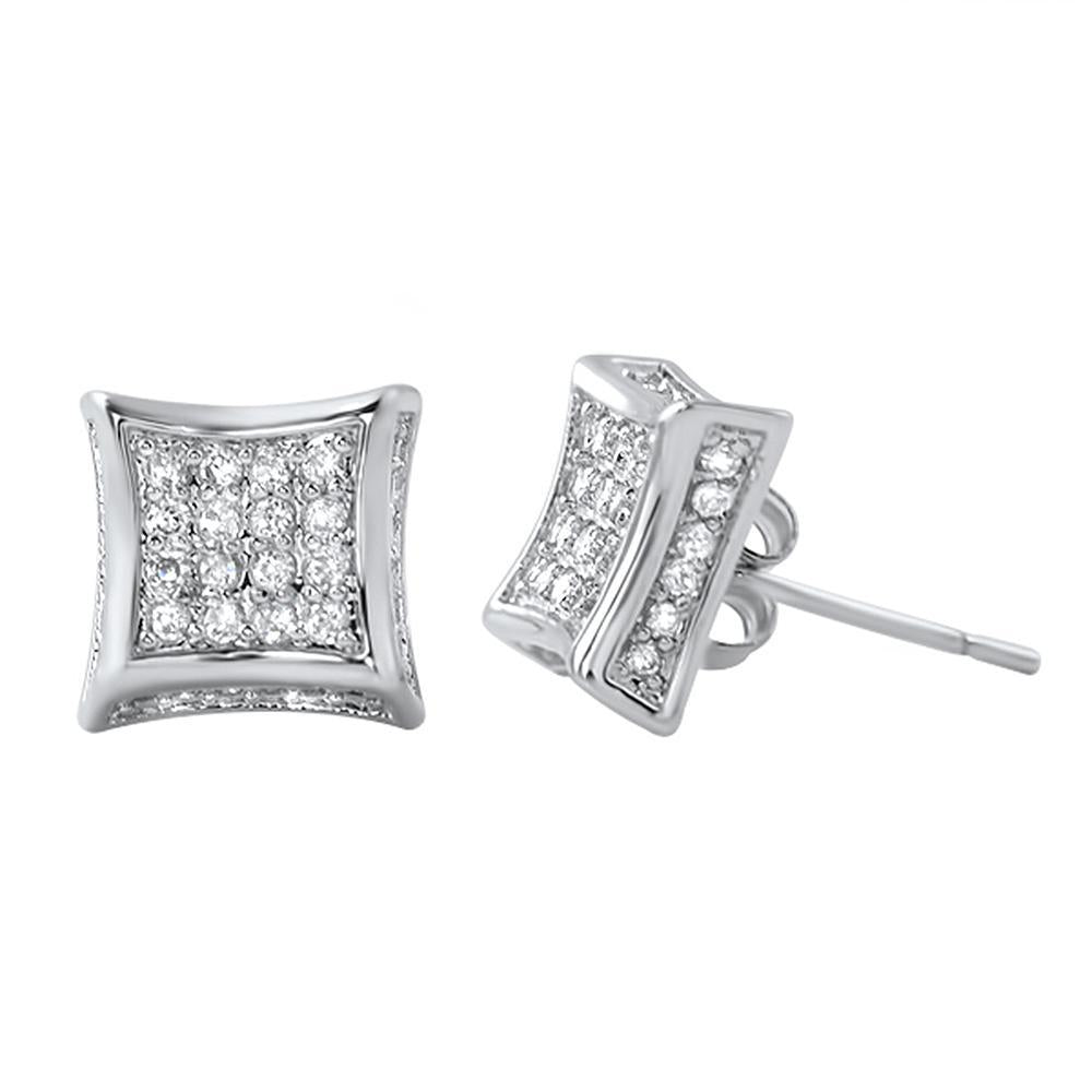 3D Kite CZ Micro Pave Bling Bling Earrings