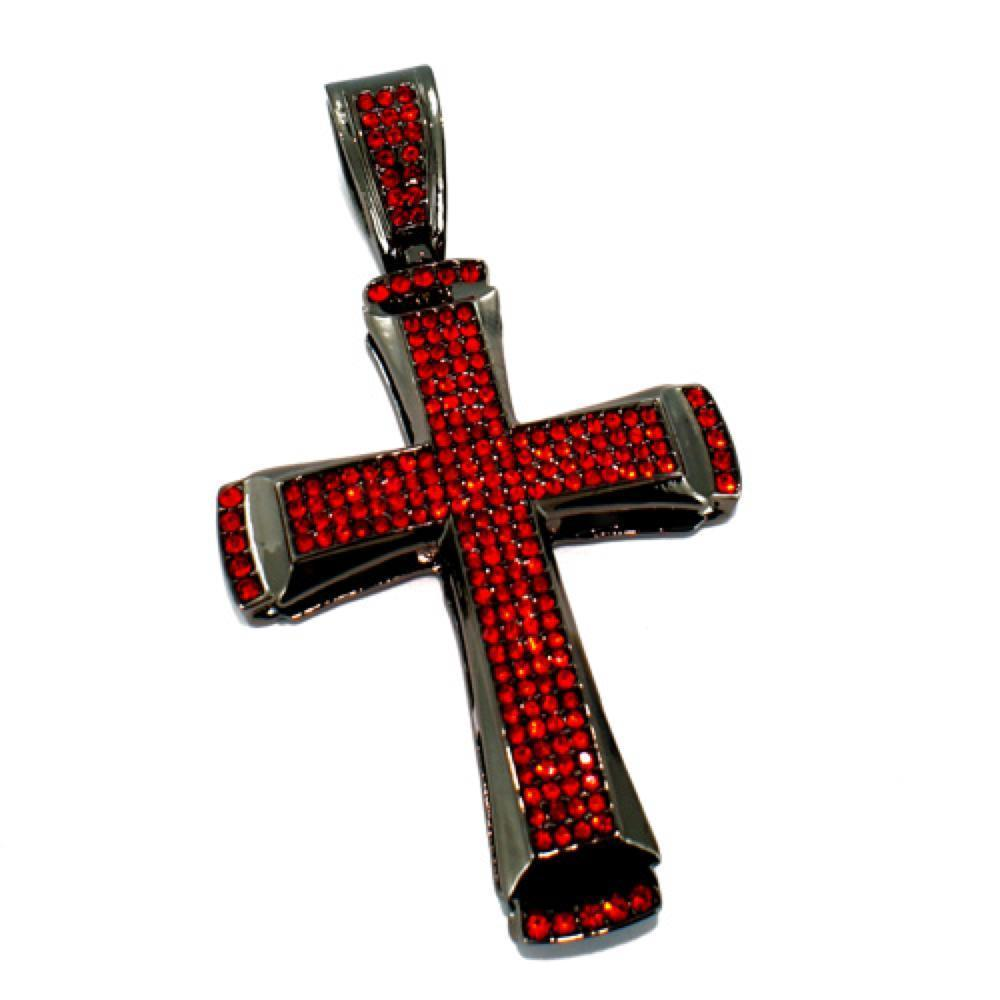 Classic Red on Black Cross