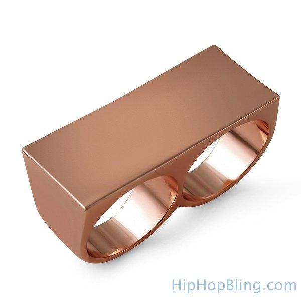 Rose Gold 2 Finger Ring