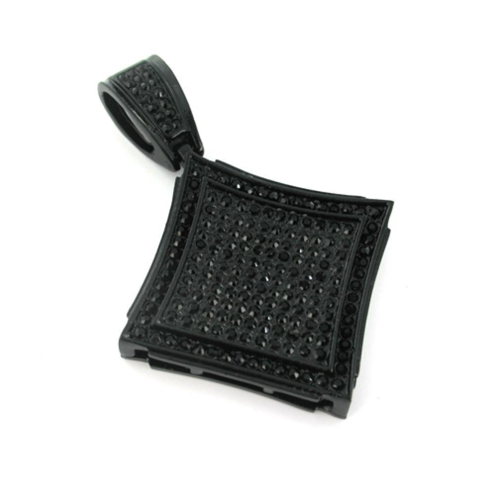 Kite Black on Black Pendant