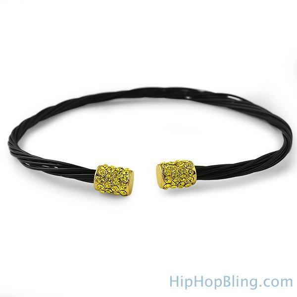 Lemonade Black Guitar String Style Bracelet