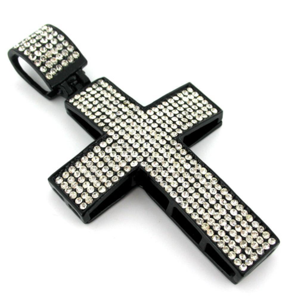 All White on Black Cross