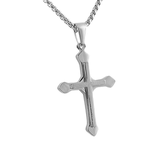 Spear Head Cross Pendant Stainless Steel