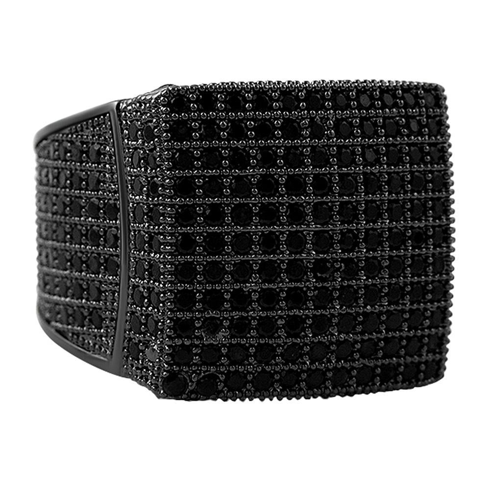 11 Row Black CZ Bling Bling Ring