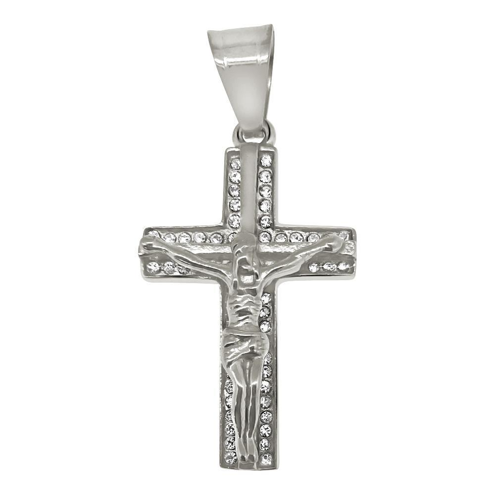 Jesus Crucifix Stainless Steel Cross
