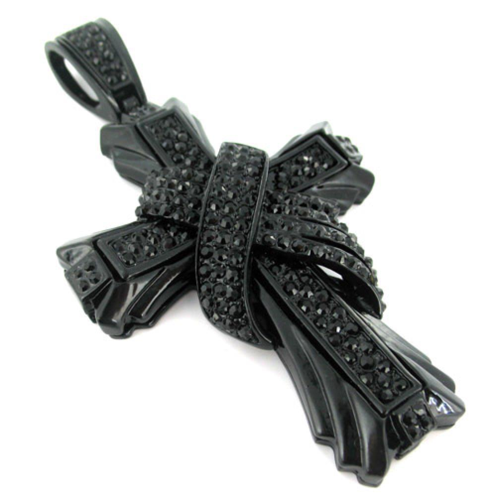 X Cross Jet Black Pendant
