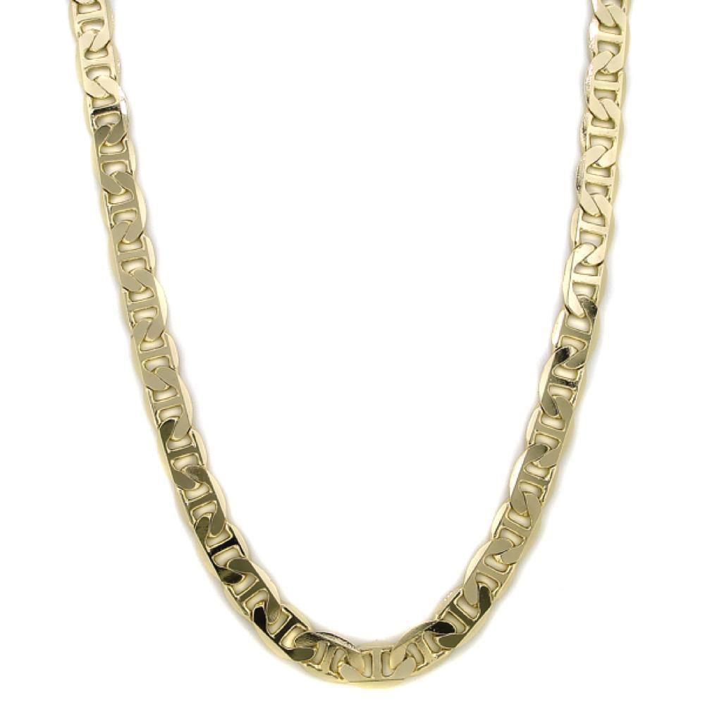 Marine 9mm Gold Plated Hip Hop Chain Necklace