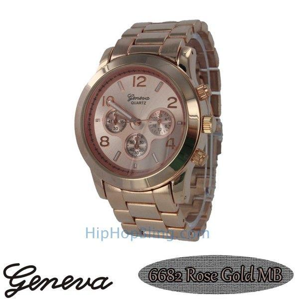 Classic Techno Pave Watch Rose