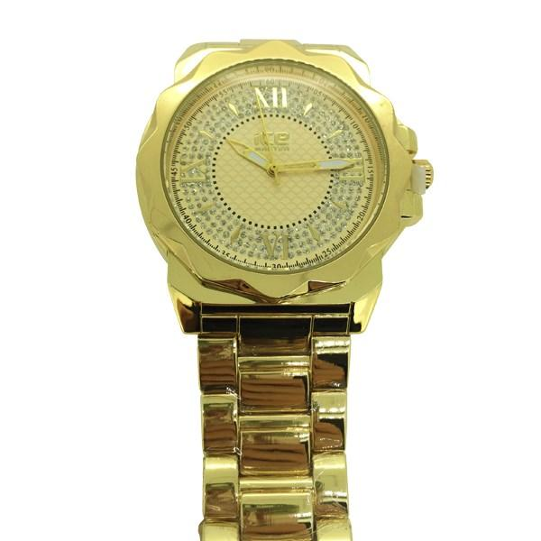 Gold Unique Bezel Fashion Hip Hop Watch