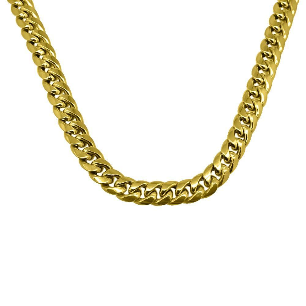 10K Yellow Gold 8MM Miami Cuban Chain