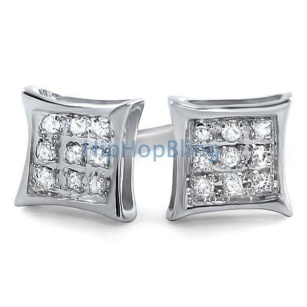 .05ct Diamond Kite Earrings .925 Silver