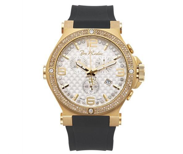 Golden Joe Rodeo Phantom 2.25ct Diamond Watch & Rubber Strap