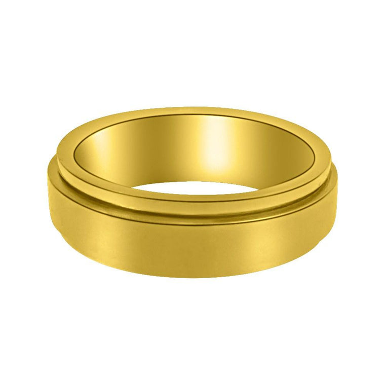 Gold Eternity Ring Stainless Steel