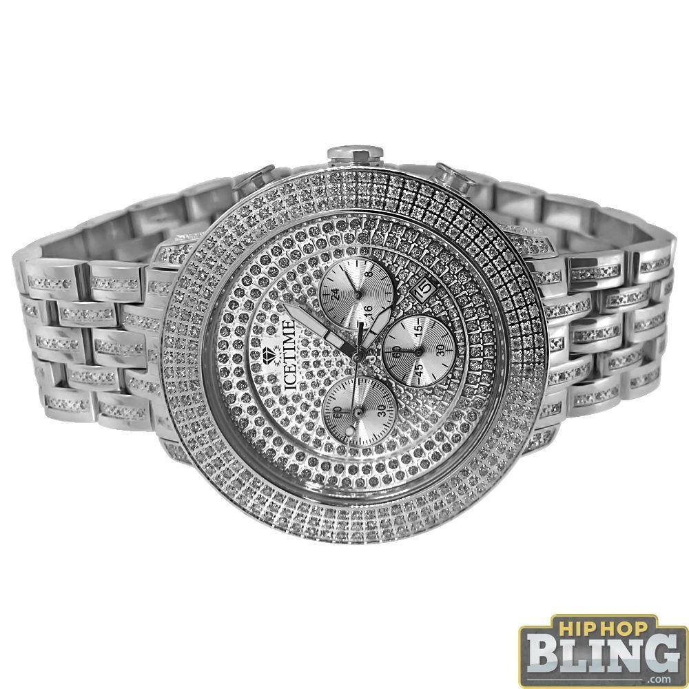 4.00 Carat Diamond Prince Steel Watch by IceTime