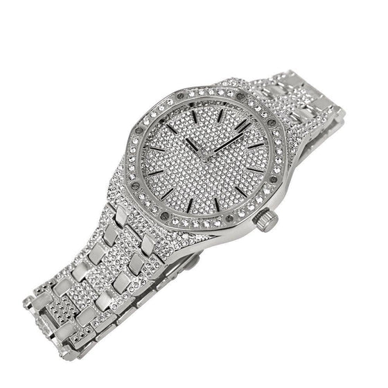 Silver Bling Bling Octagon Watch Icey